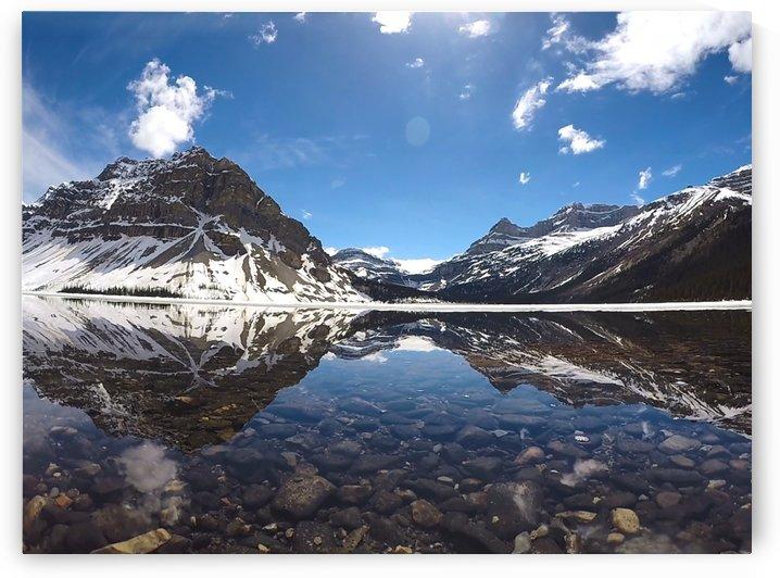 Bow Lake w rocks reflection2 Fav Stock by Creative Endeavors - Steven Oscherwitz