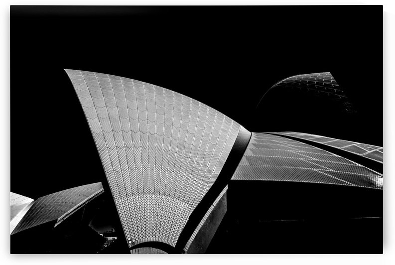 Sydney Opera house sails detail in Mono. by Downundershooter
