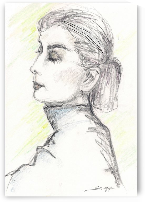 Woman in Turtleneck by Jayne Somogy