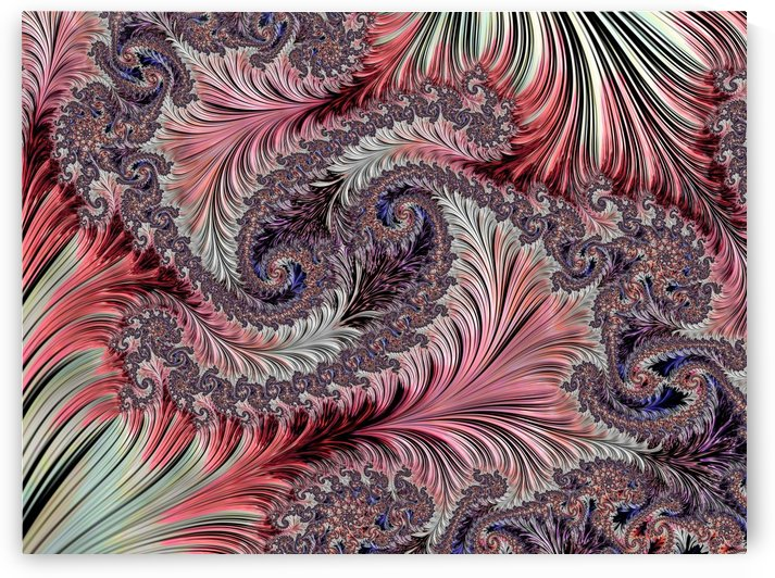 Fractal Art-Silk Brocade by HH Photography of Florida