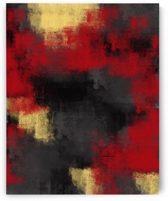 Red Black Yellow Abstract DAP 19001 by Edit Voros