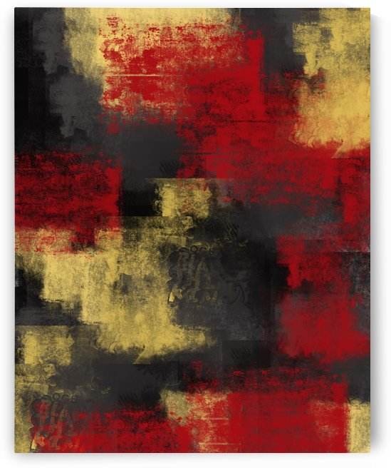 Red Black Yellow Abstract DAP 19002 by Edit Voros