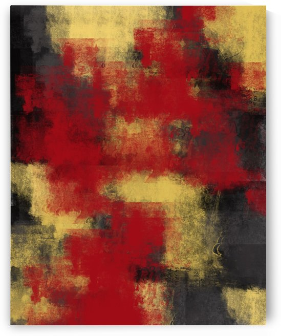 Red Black Yellow Abstract DAP 19003 by Edit Voros