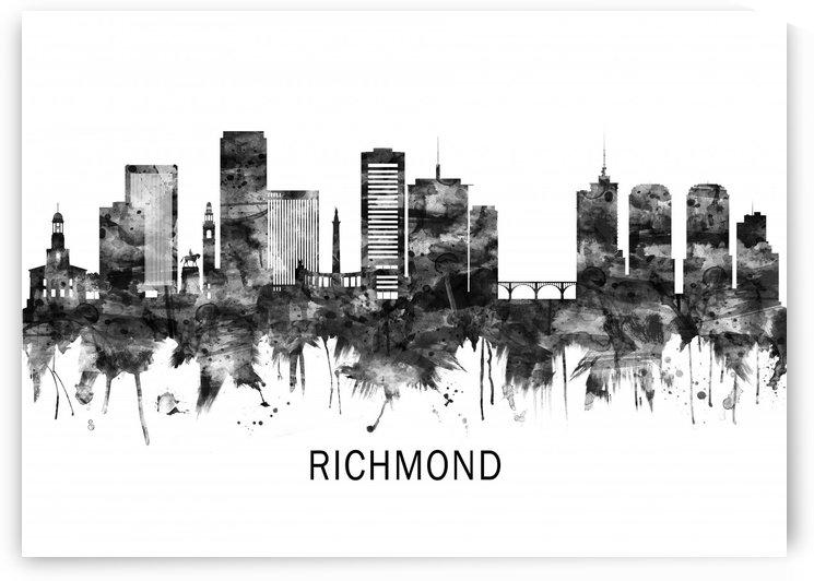 Richmond Virginia Skyline BW by Towseef Dar
