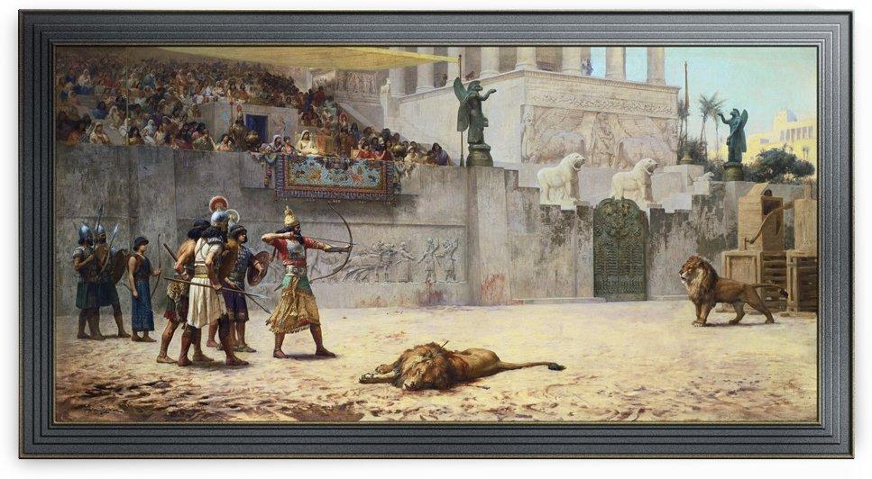 The Diversion Of An Assyrian King by Frederick Arthur Bridgman by xzendor7