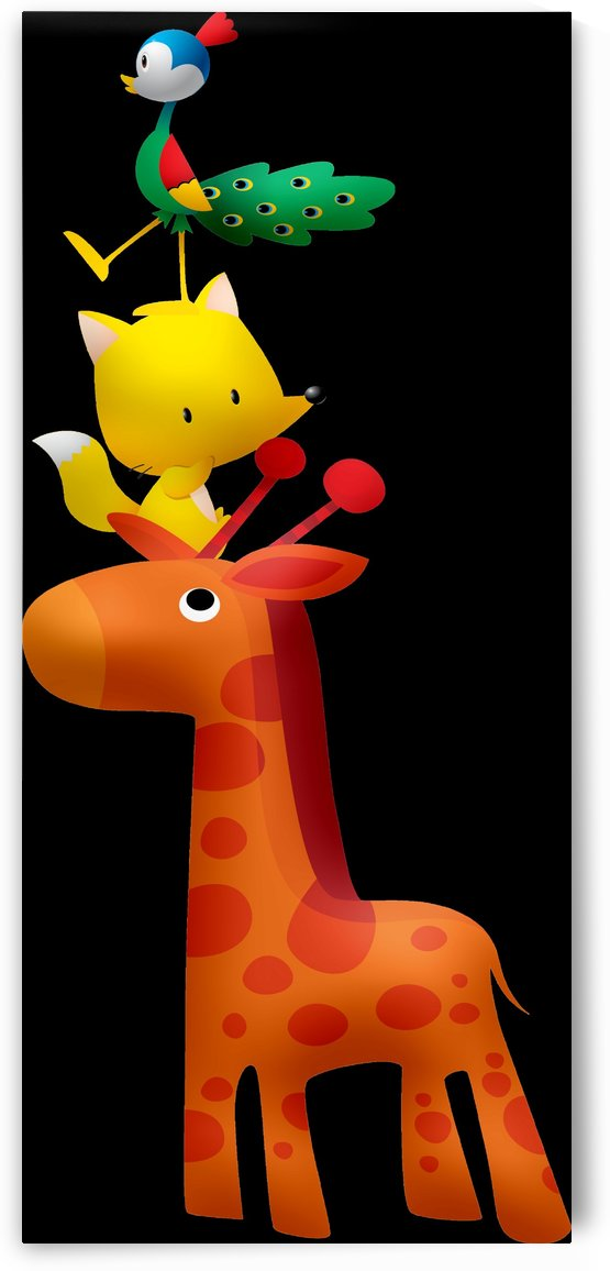 Cute Animal Tower 2_OSG by One Simple Gallery