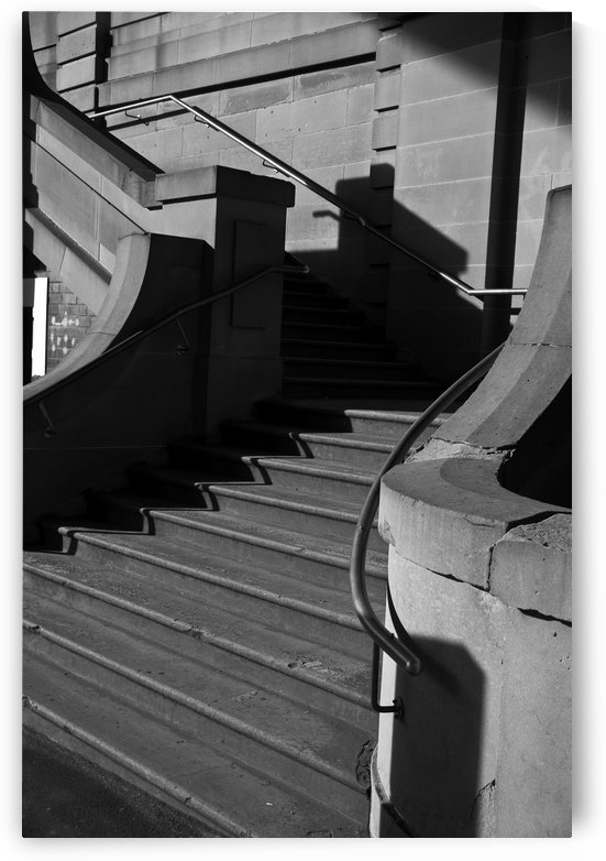 Sandstone stairway The Rocks Sydney shot in Mono by Downundershooter