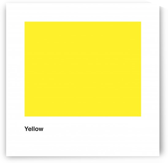 Solid Yellow Process Color with word. by Downundershooter