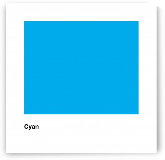 Solid Cyan Process color with word by Downundershooter