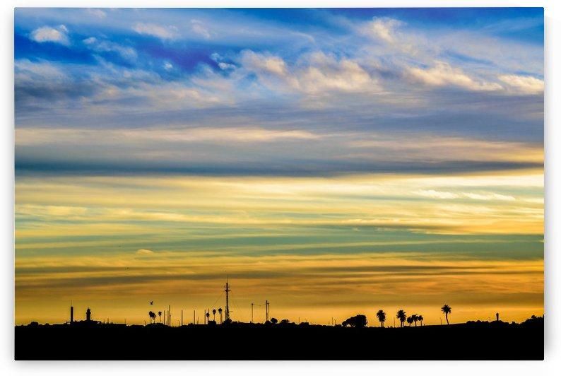 sunset Silhouette Countryside Landscape Scene by Daniel Ferreia Leites Ciccarino