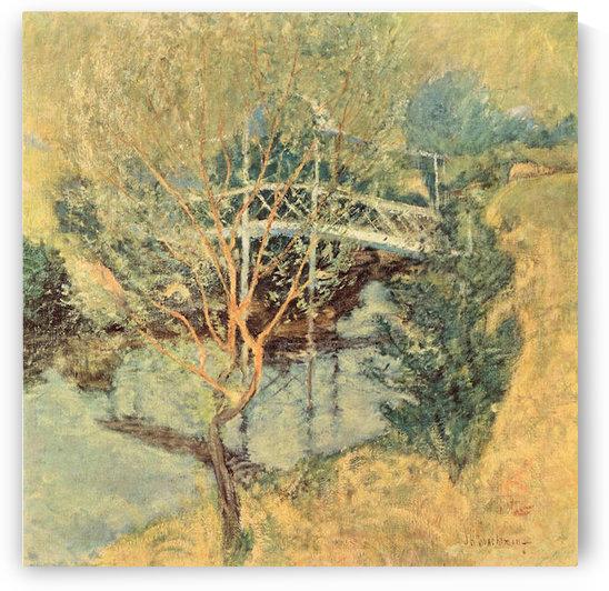 The white bridge by Twachtman by Twachtman