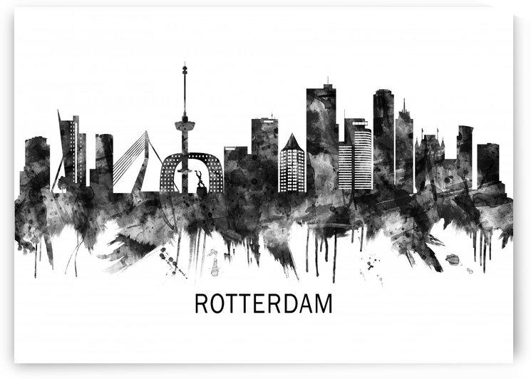 Rotterdam Netherlands Skyline BW by Towseef Dar