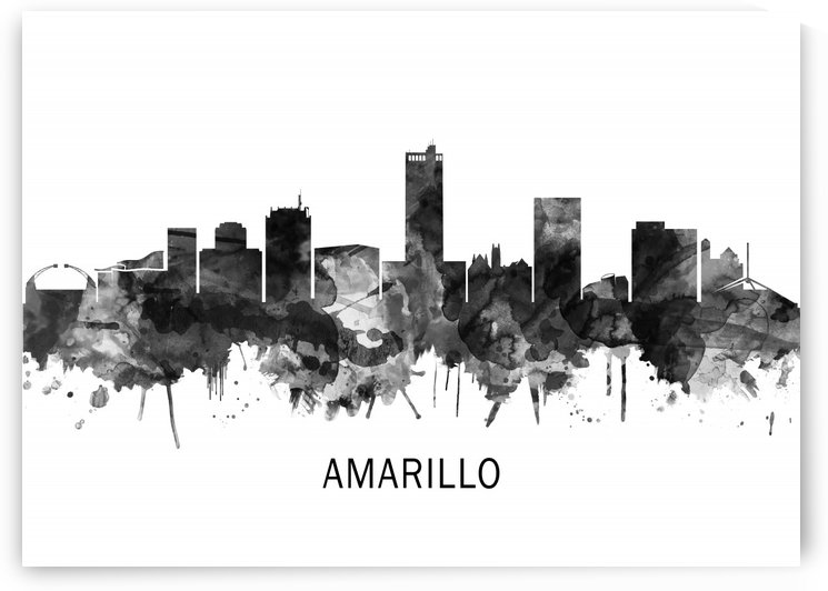 Amarillo Texas Skyline BW by Towseef