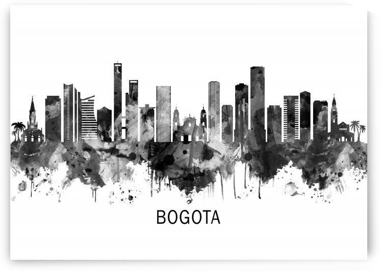 Bogota Colombia Skyline BW by Towseef