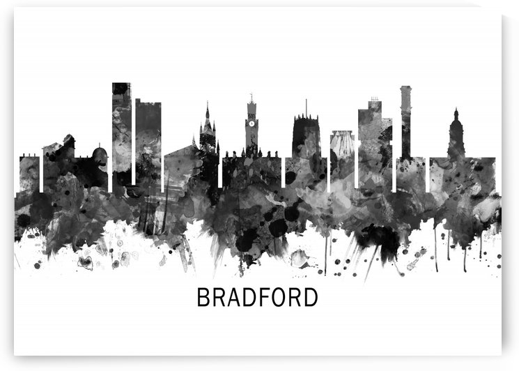 Bradford England Skyline BW by Towseef