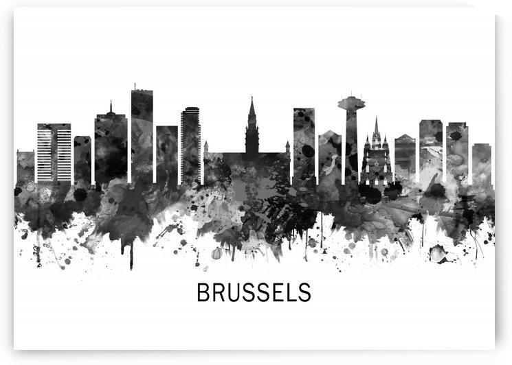 Brussels Belgium Skyline BW by Towseef Dar
