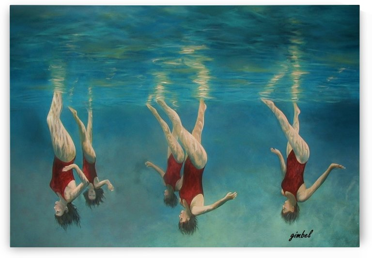 swimmers by Bill Gimbel