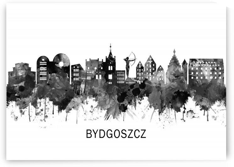 Bydgoszcz Poland Skyline BW by Towseef Dar