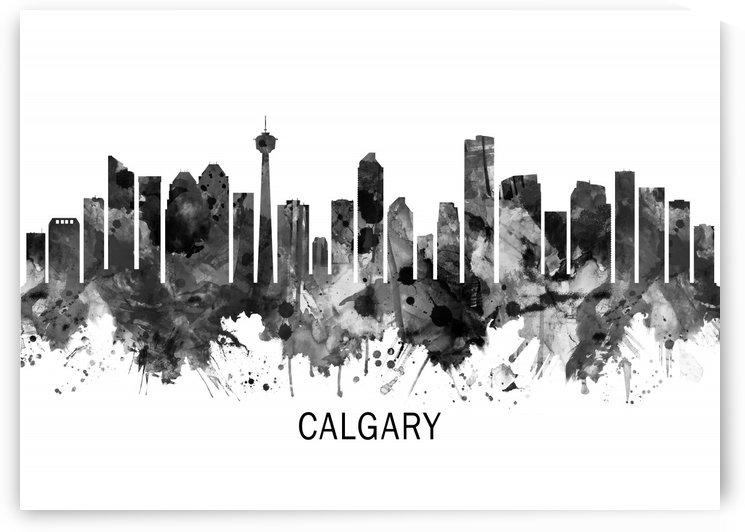 Calgary Canada Skyline BW by Towseef Dar