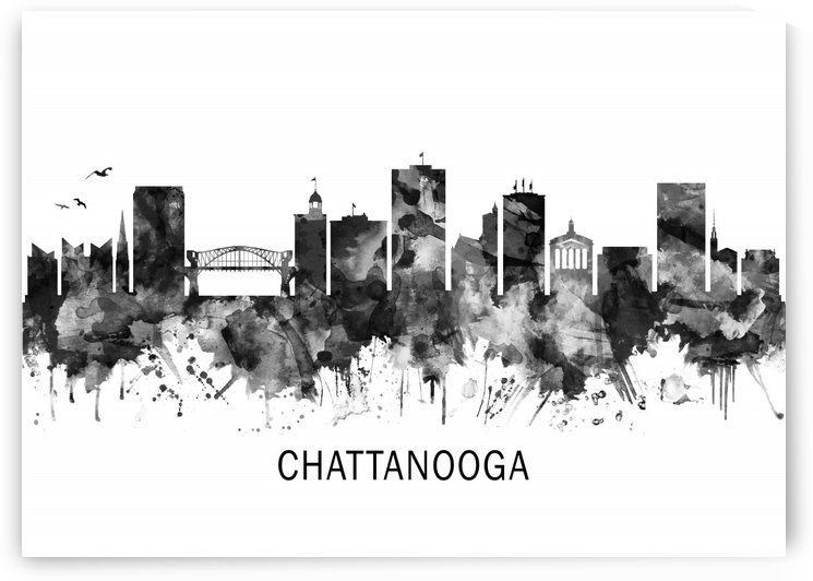 Chattanooga Tennessee Skyline BW by Towseef Dar