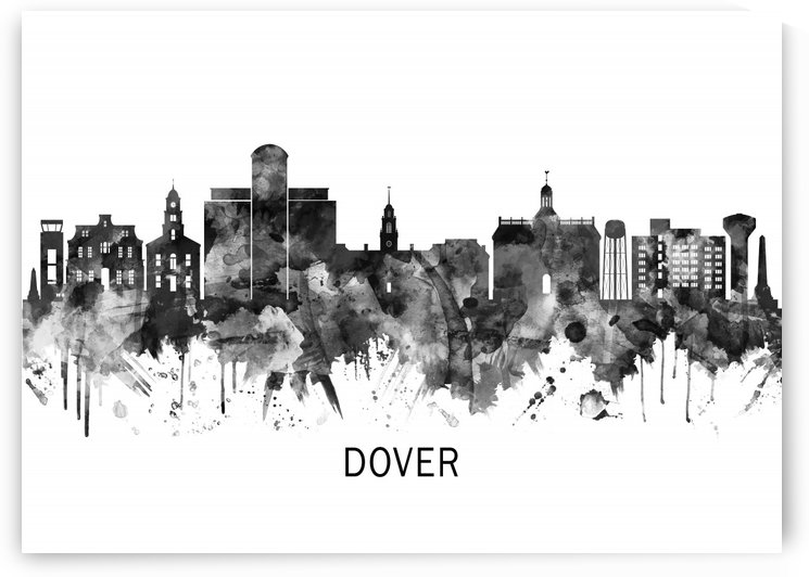 Dover Delaware Skyline BW by Towseef Dar