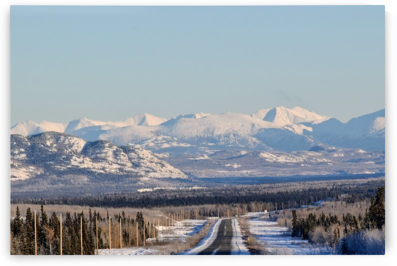 Alaska highway looking south to Whitehorse YT by Stuart Spofford