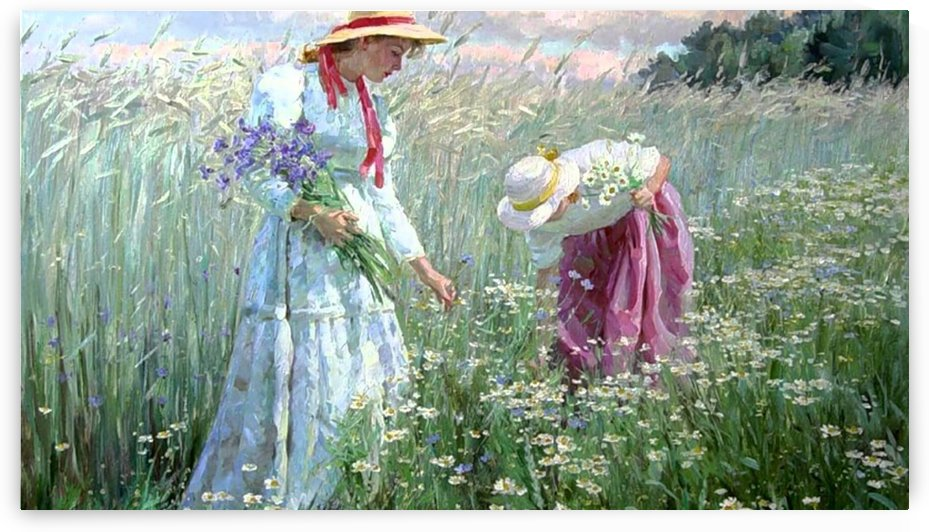 Picking flowers by Alexander Averin