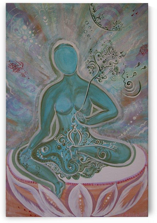 Green Buddha Tara by Vlamy
