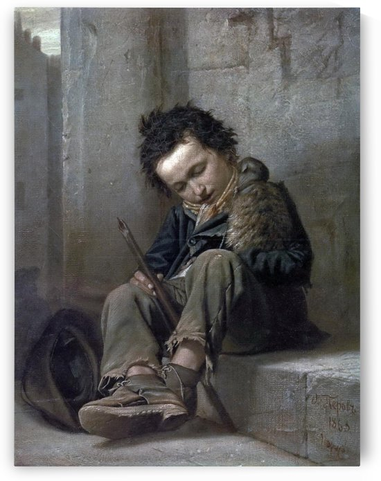 A poor boy by Vasily Grigorievich Perov