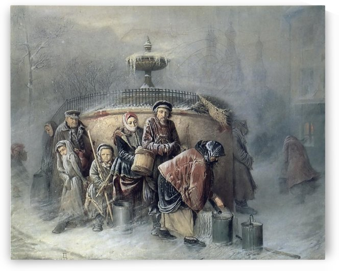 People in the cold by Vasily Grigorievich Perov
