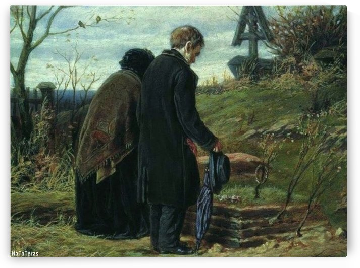 A couple praising God by Vasily Grigorievich Perov