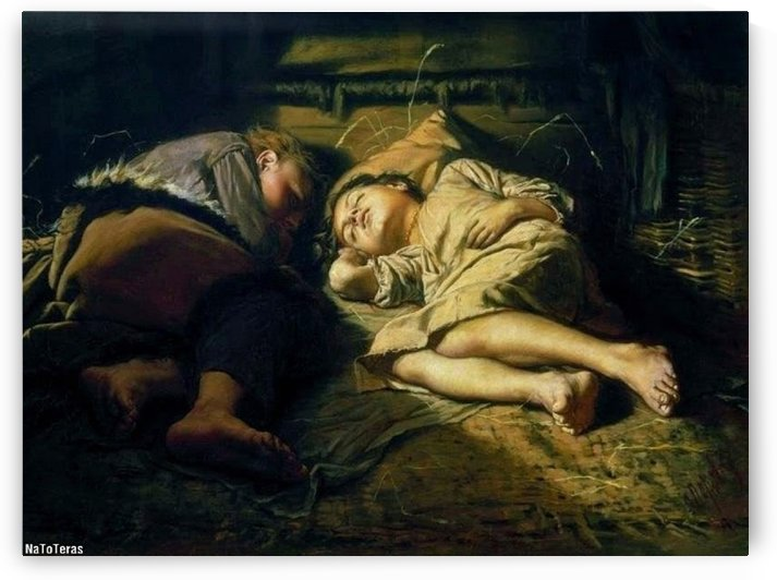 Children sleeping by Vasily Grigorievich Perov