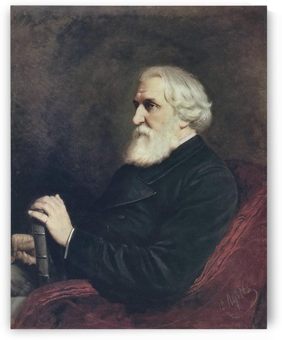 Old man portrait by Vasily Grigorievich Perov