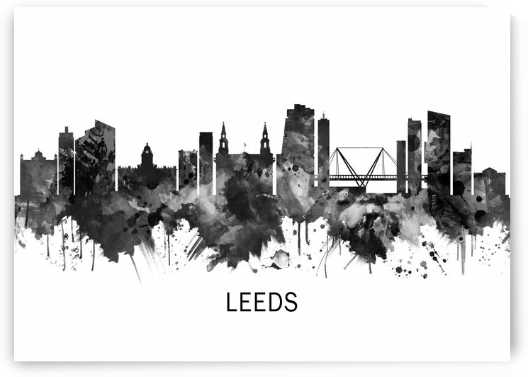 Leeds England Skyline BW by Towseef