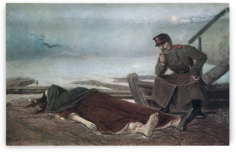 The dead body by Vasily Grigorievich Perov