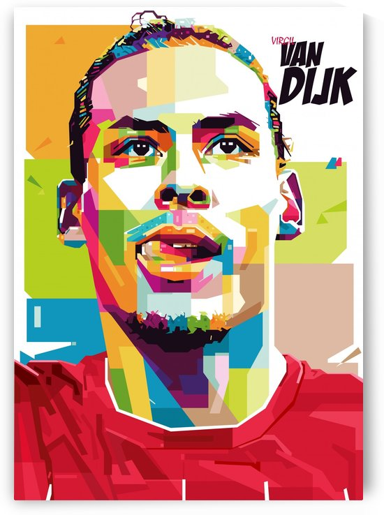 Virgil van dijk by artwork poster