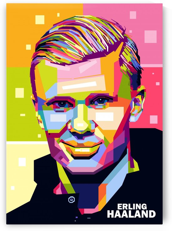 Erling haaland by artwork poster