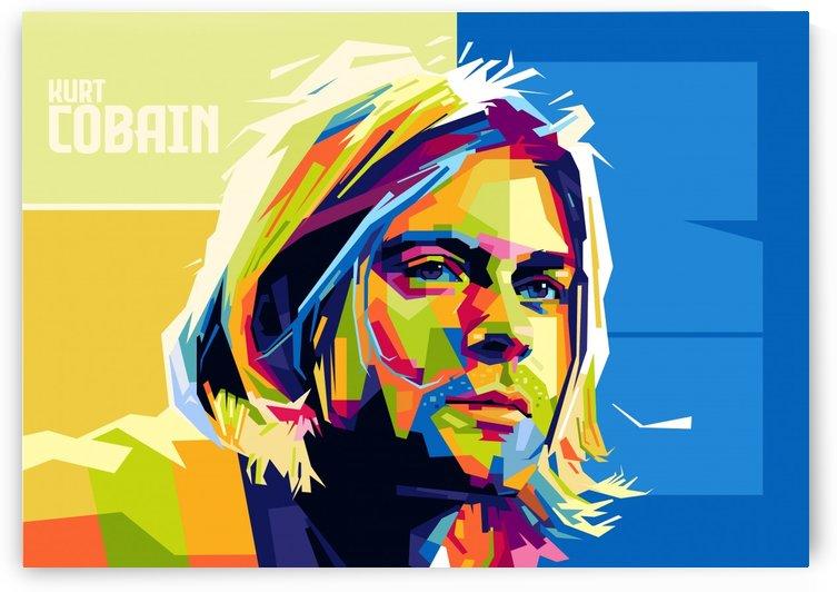 kurt cobain by artwork poster