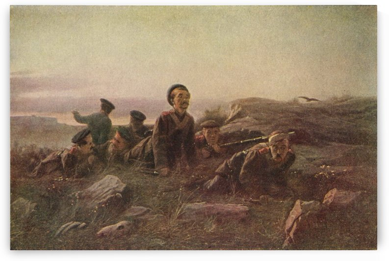 Scouts at sevastopol by Vasily Grigorievich Perov