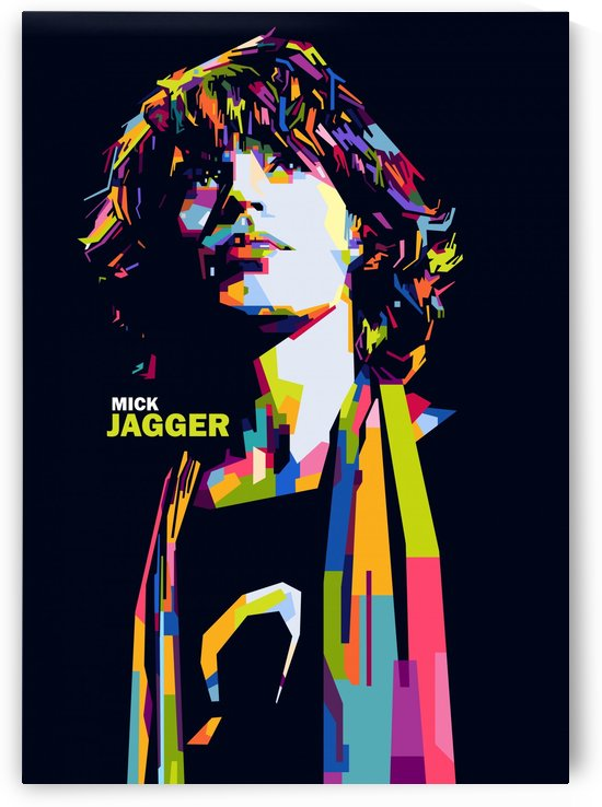mick jagger by artwork poster