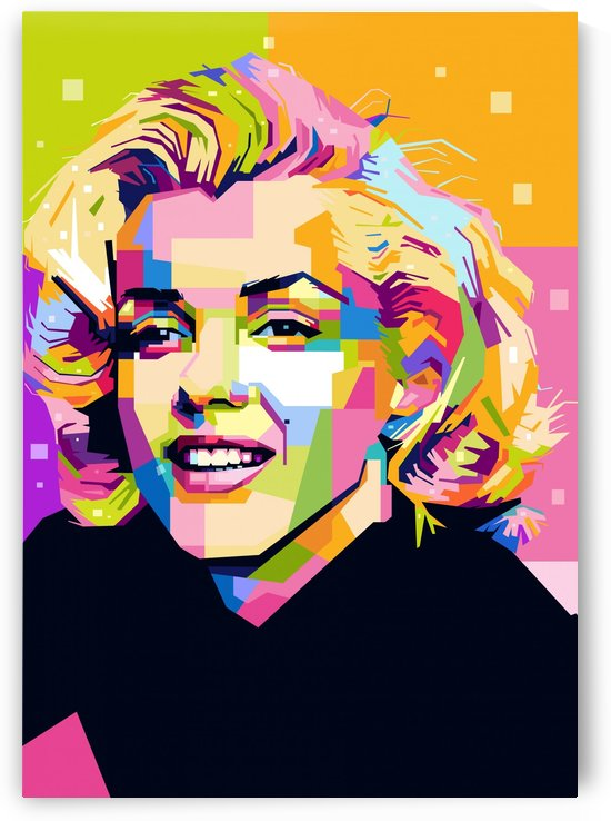 Marilyn Monroe by artwork poster