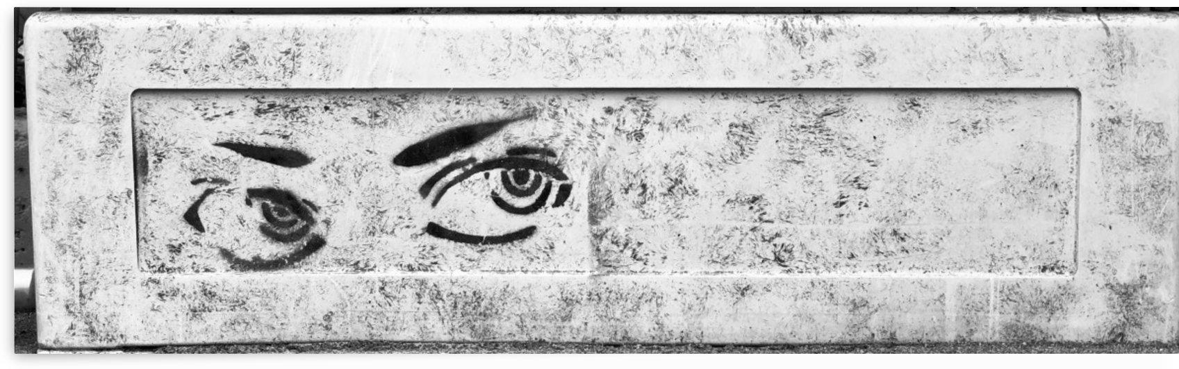 Street Graffiti Two Eyes Watching You by Swiss Art by Patrick Kobler