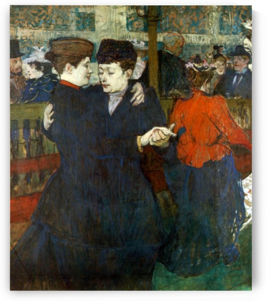 Dancing a Valse by Toulouse-Lautrec by Toulouse-Lautrec