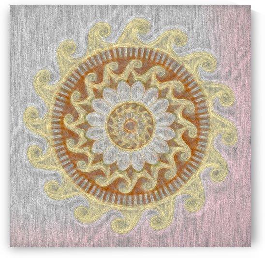 Blossoming Sun Mandala by Leslie Montgomery