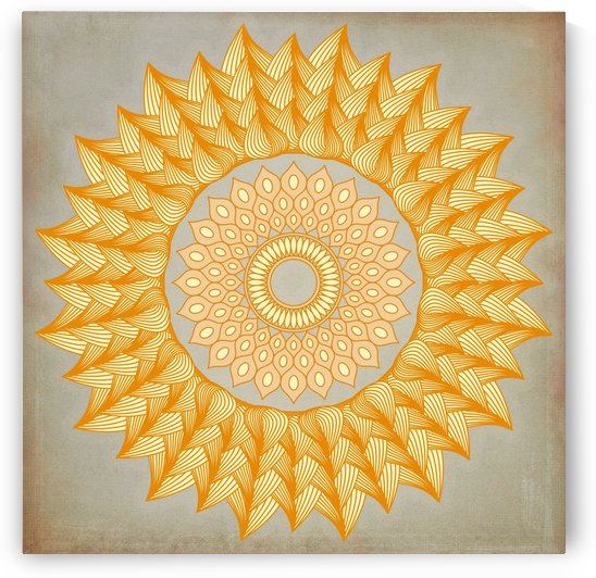 Burning Ring Of Fire Mandala by Leslie Montgomery