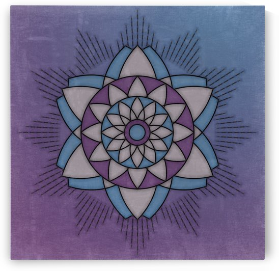 Simple Vintage Glow Mandala Solid by Leslie Montgomery