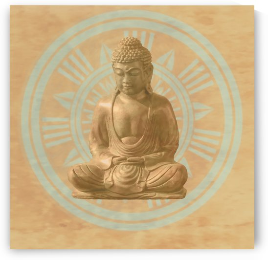 Buddha   Mandala by Leslie Montgomery