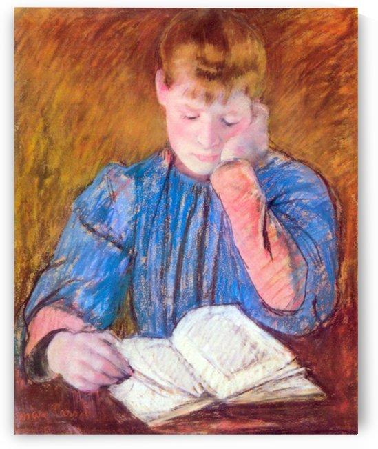 Thoughtful reader by Cassatt by Cassatt