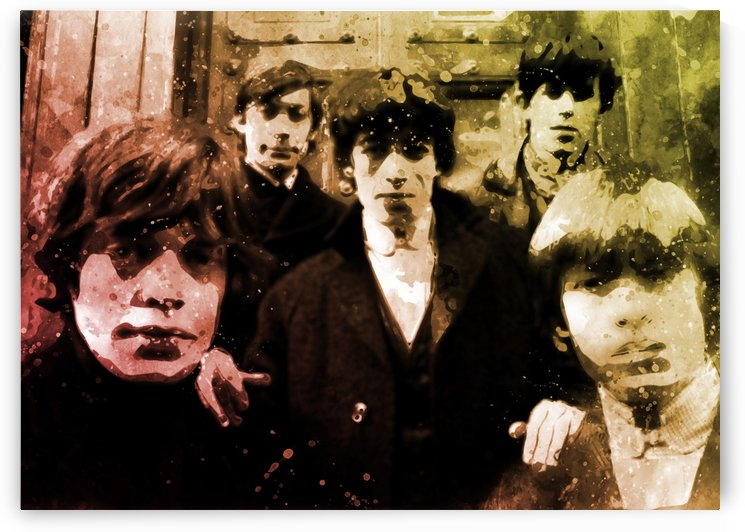 Rolling stones by artwork poster