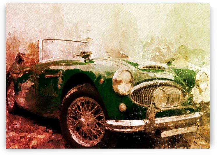 Car vintage by artwork poster